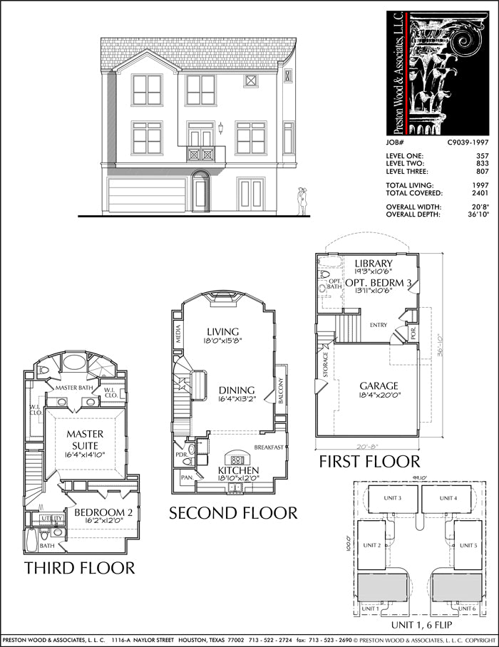 Townhouse Plan C9039-1997