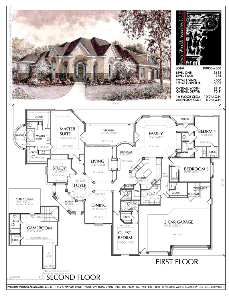 Two Story House Plan D0033