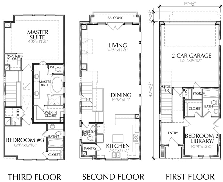 Townhouse Plan E2207 A1.2