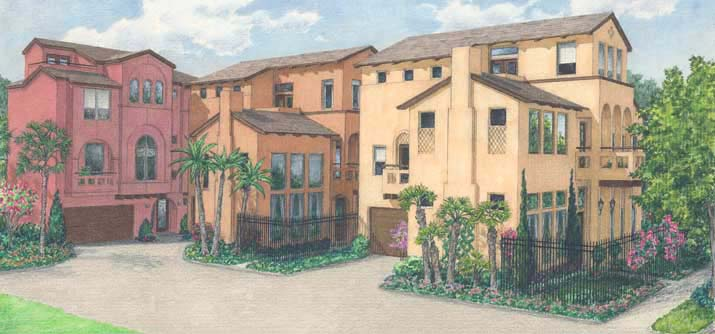 Townhouse Plan D4267 u3 & u6