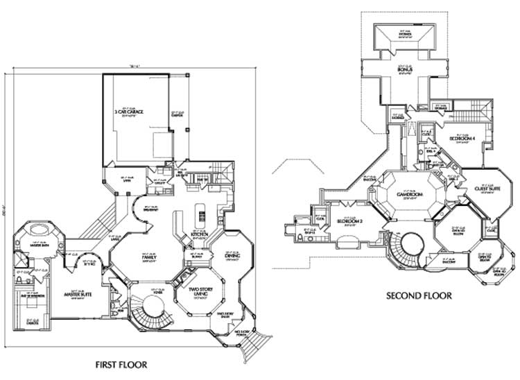 Two Story House Plan D8093