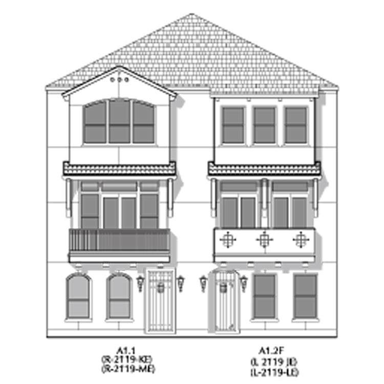 Duplex Townhouse Plan E2179 A1.1