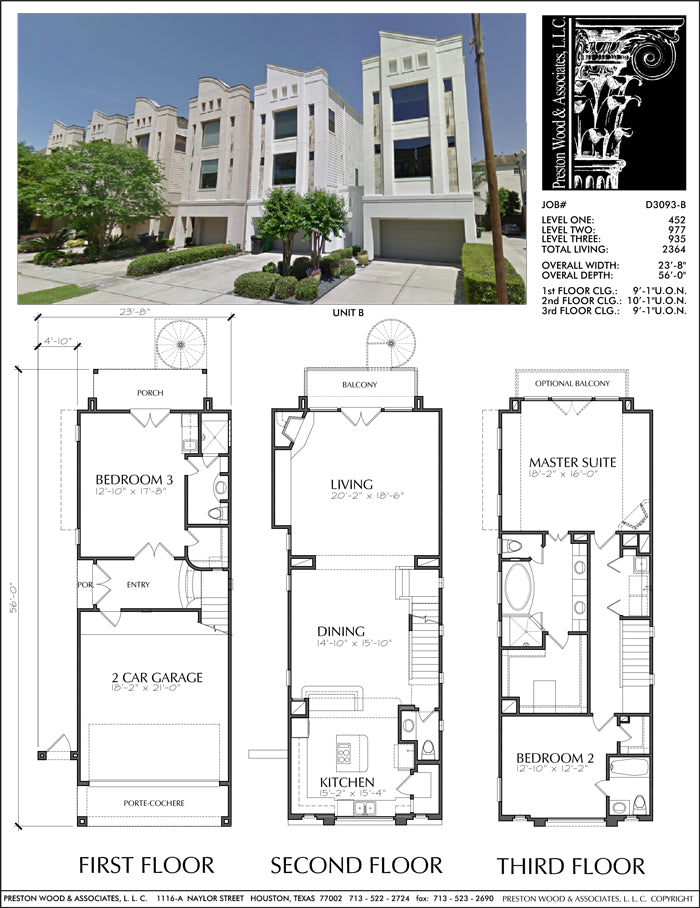 Townhouse Plan D3093