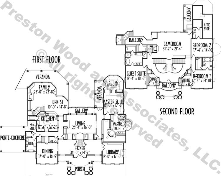 Two Story House Plan C2104