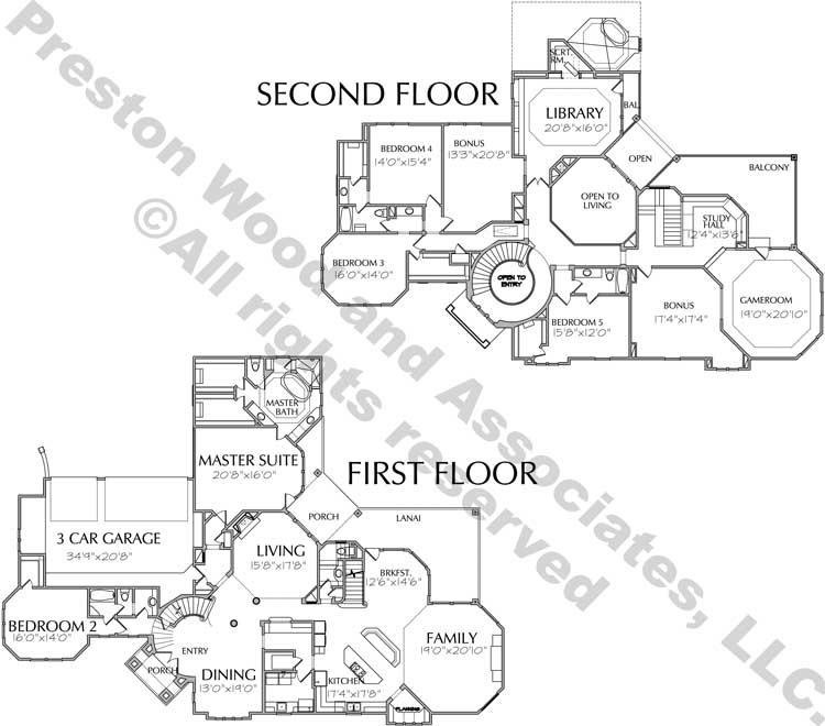 Two Story Home Plan aD6248 & D0112