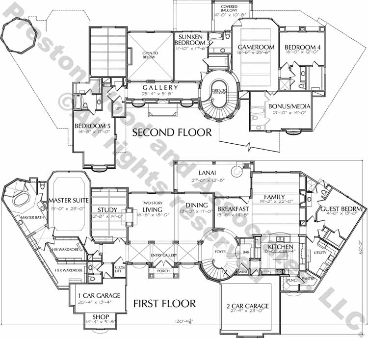 Two Story House Plan D6274