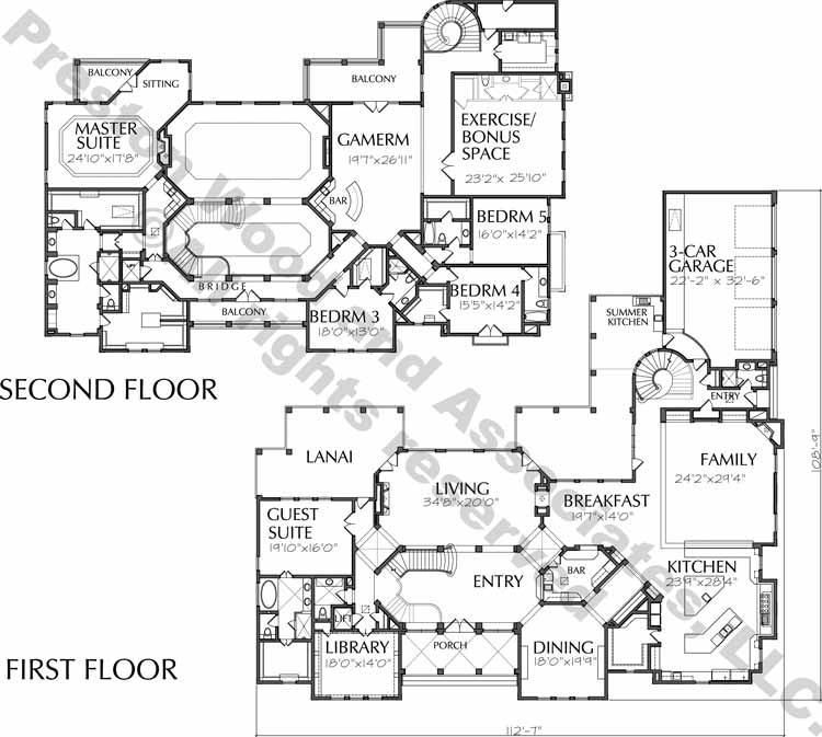 Two Story House Plan D8074
