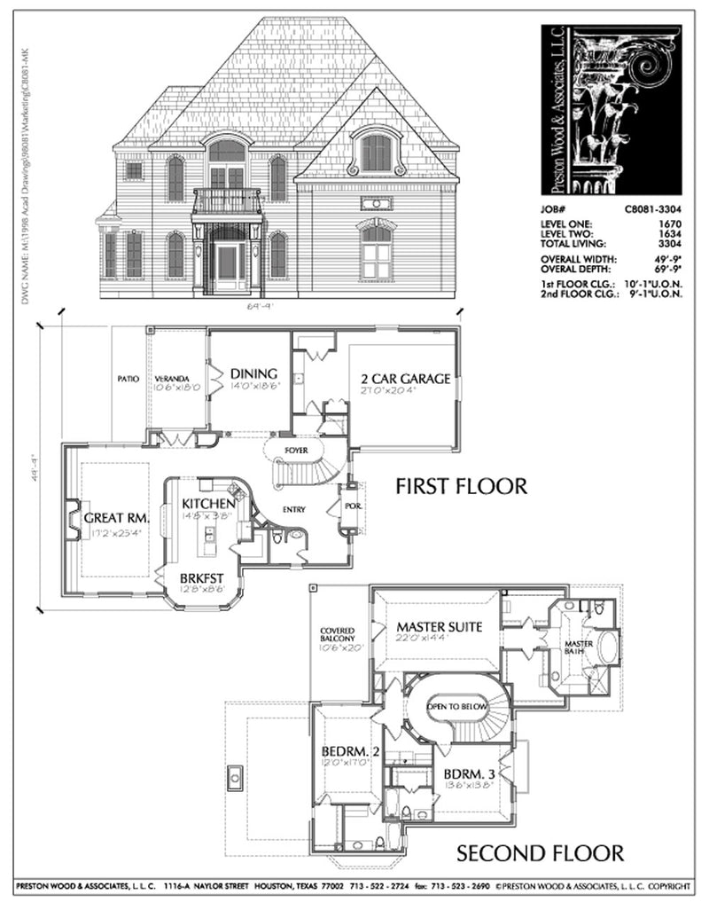 Urban House Plan C8081