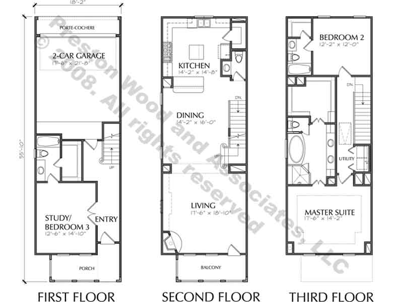 Townhouse Plan D5214-2222