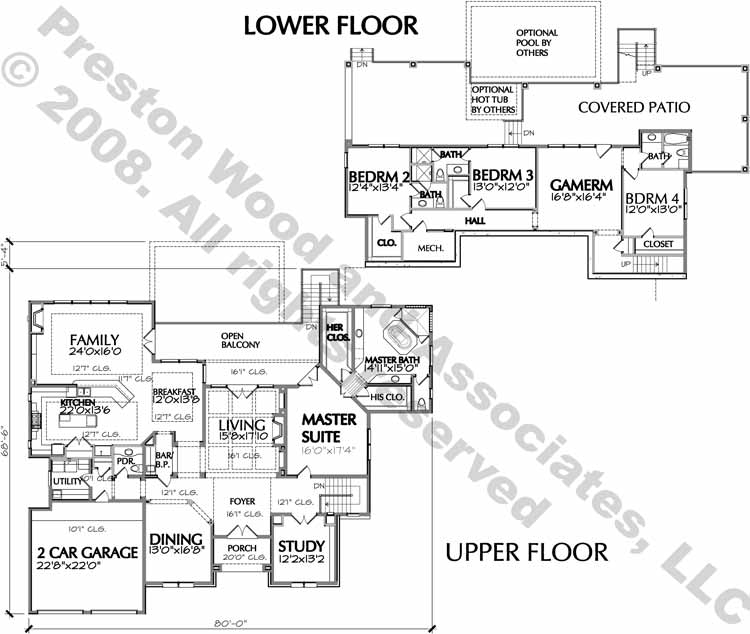 Two Story House Plan D6229
