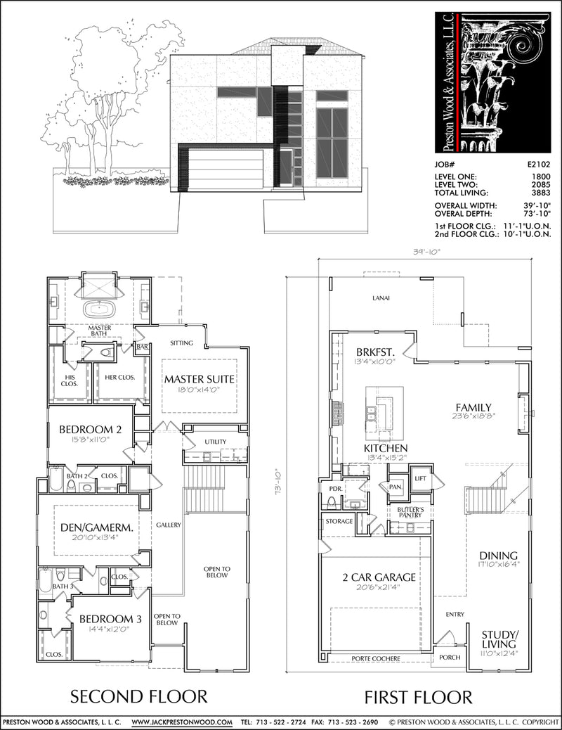 Urban House Plan E2102
