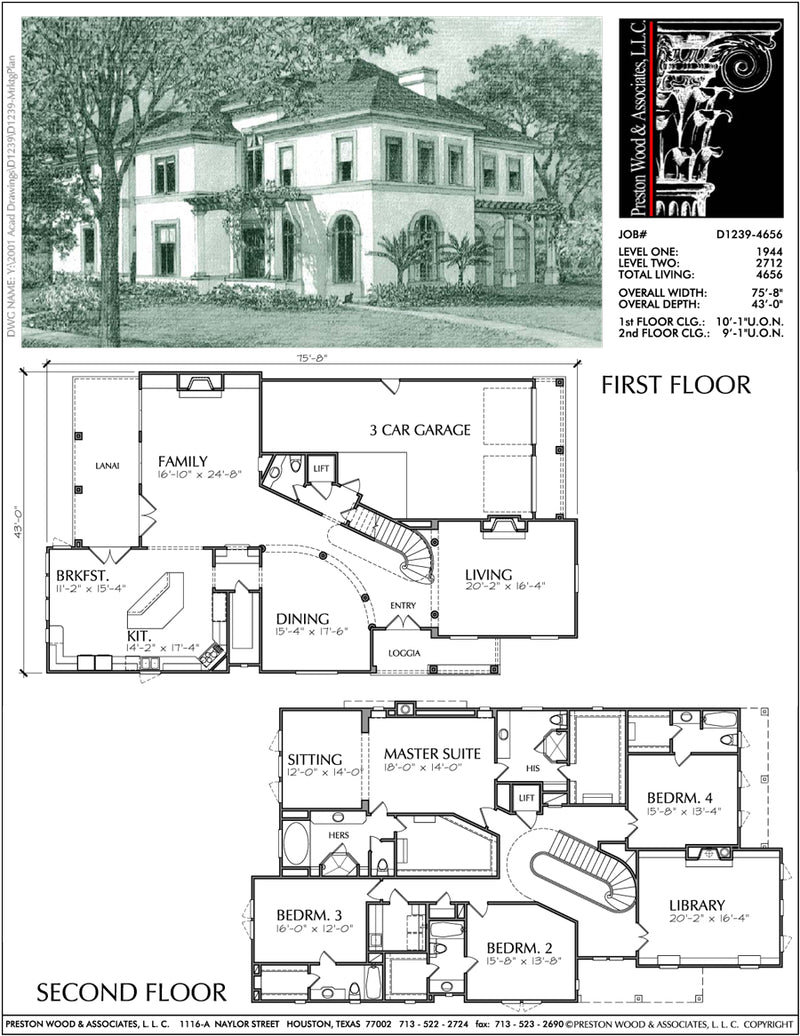 Two Story Home Plan aD1239