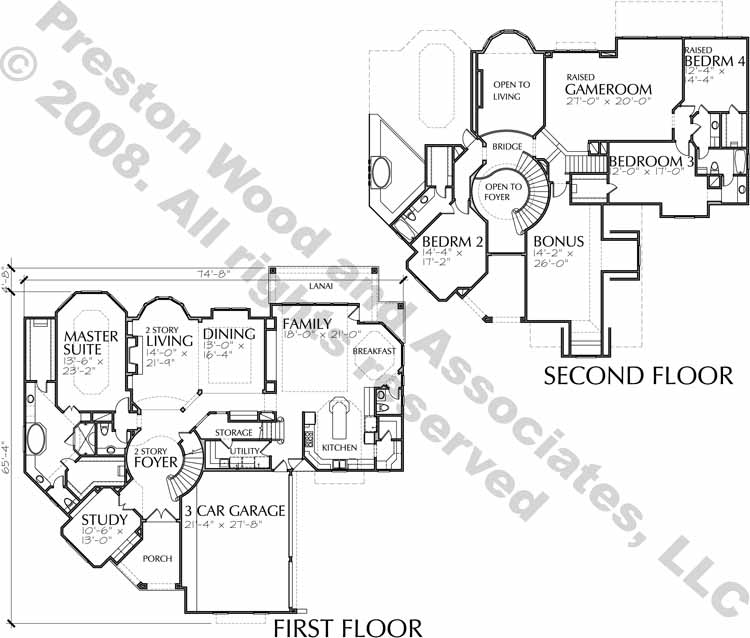 Two Story Home Plan D0111