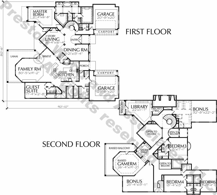 Two Story Home Plan D3076