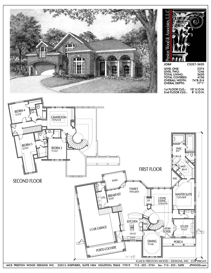 Two Story House Plan aC5327