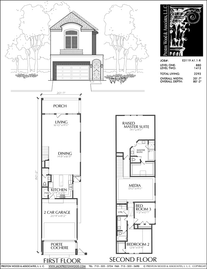 Townhouse Plan E3119 A1.1