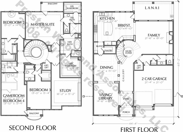 Two Story House Plan D5099