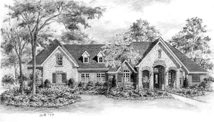 Country Style House Plan C9059