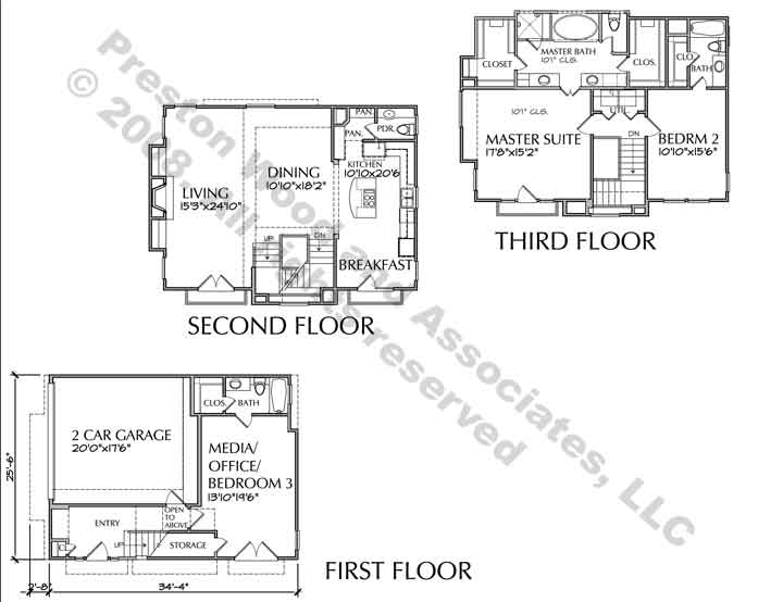 Townhouse Plan D2137 u1F-u6