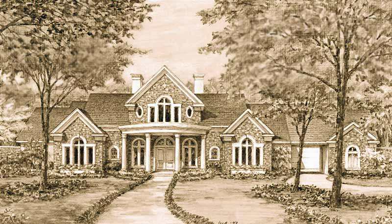 Two Story Home Plan C6343