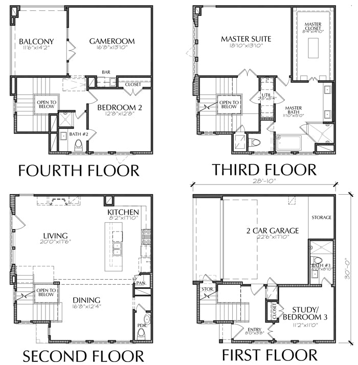 Townhouse Plan E2295 B1.1