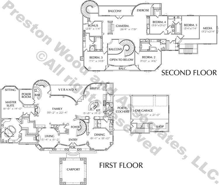 Two Story House Plan D2142
