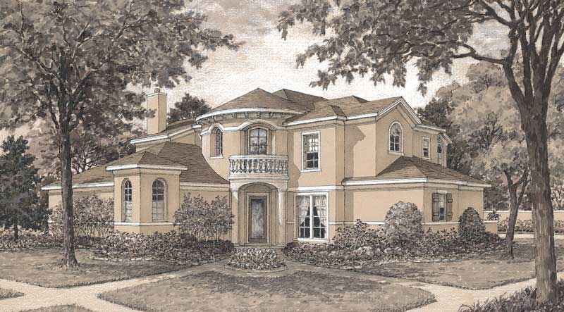 Two Story House Plan D1181