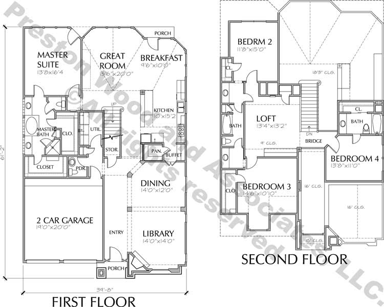 Patio House Plan C6102
