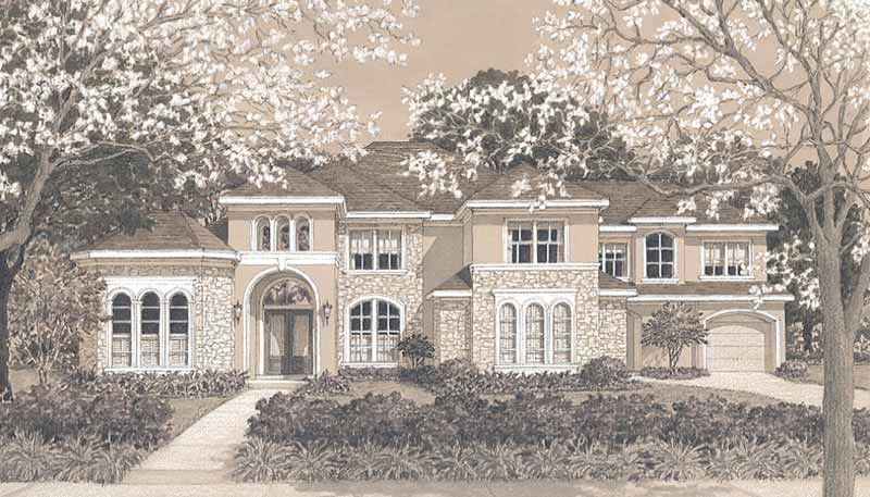 Two Story Home Plan D0120 & D5103