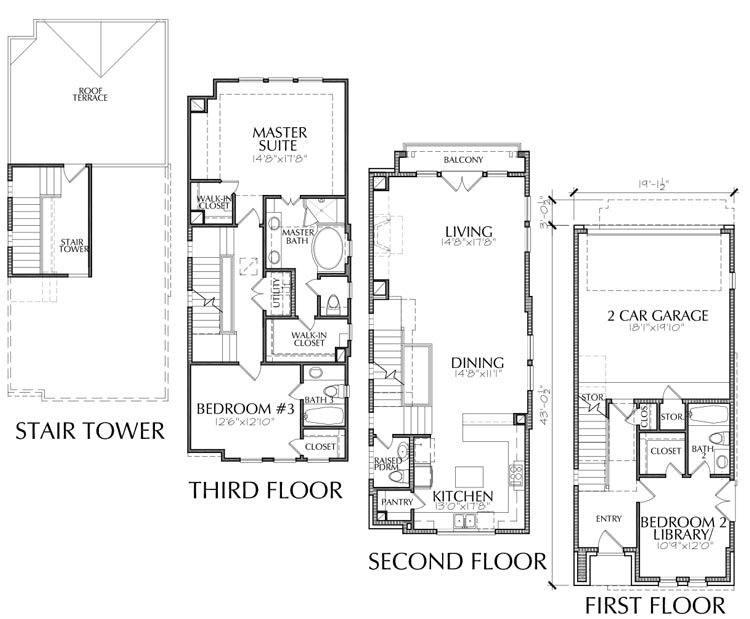 Townhouse Plan E2207 A2.2