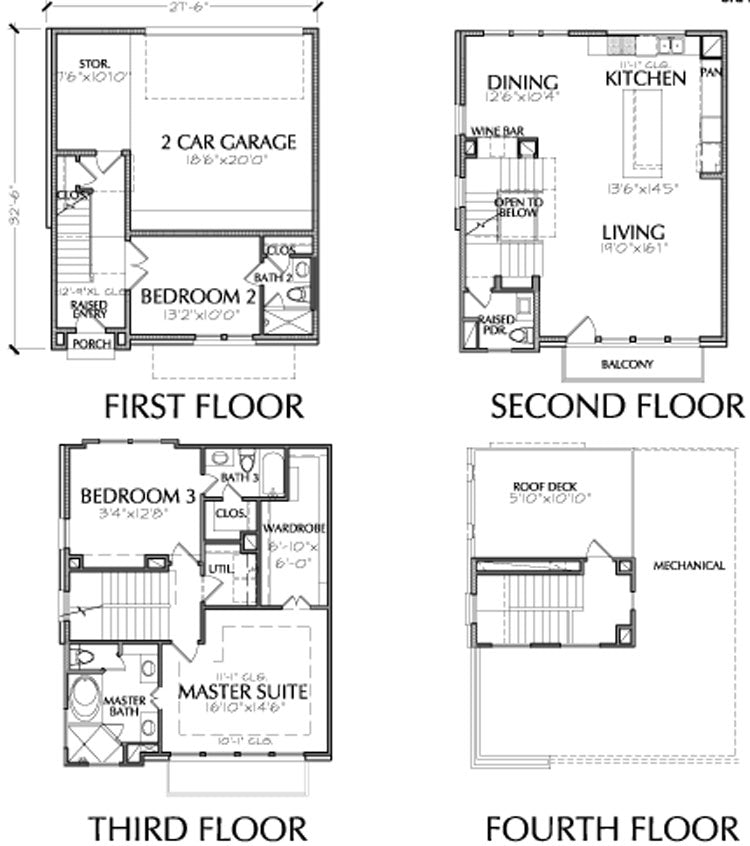 Townhouse Plan E2117 A2.1L