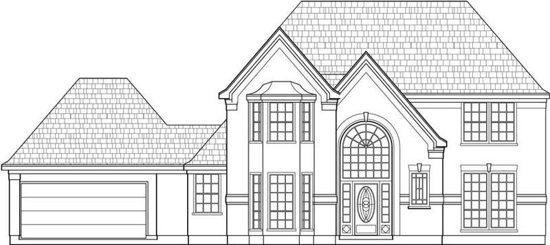 Two Story House Plan C5196