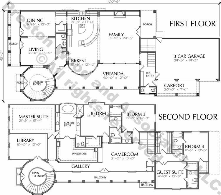 Two Story Home Plan aC9268