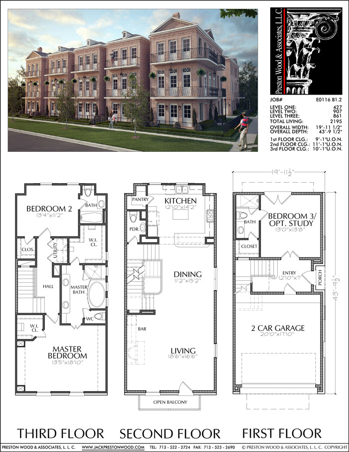 Townhouse Plan E0116 B1.2