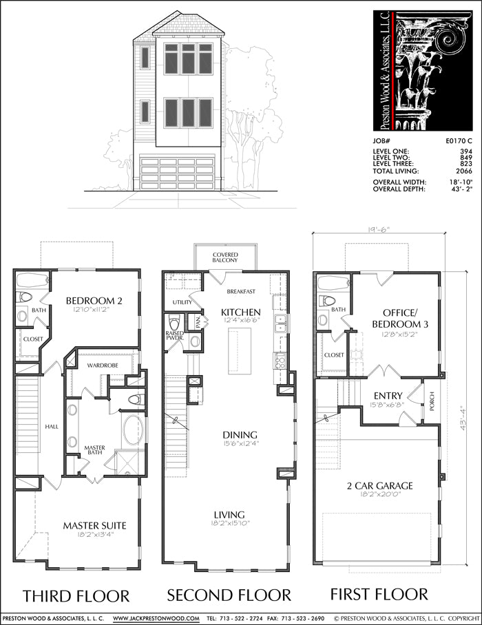 Townhouse Plan E0170 C
