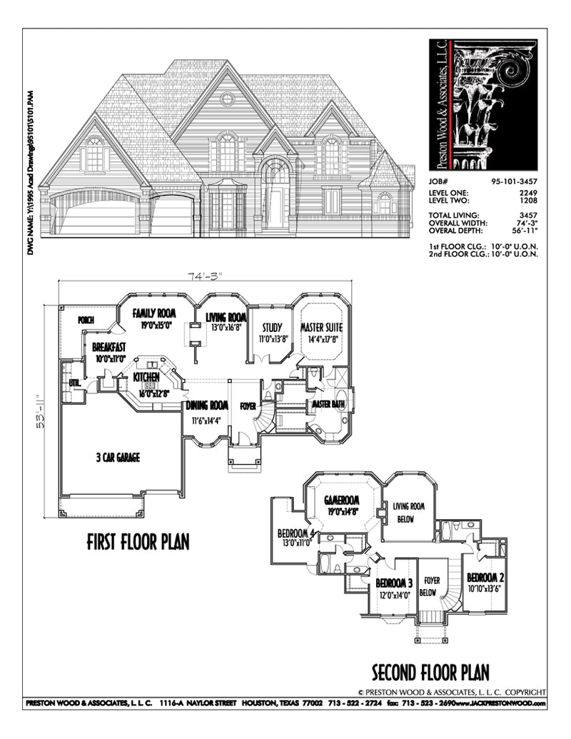 Two Story House Plan C5101