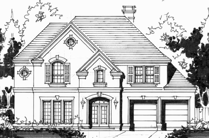 Two Story House Plan C4259