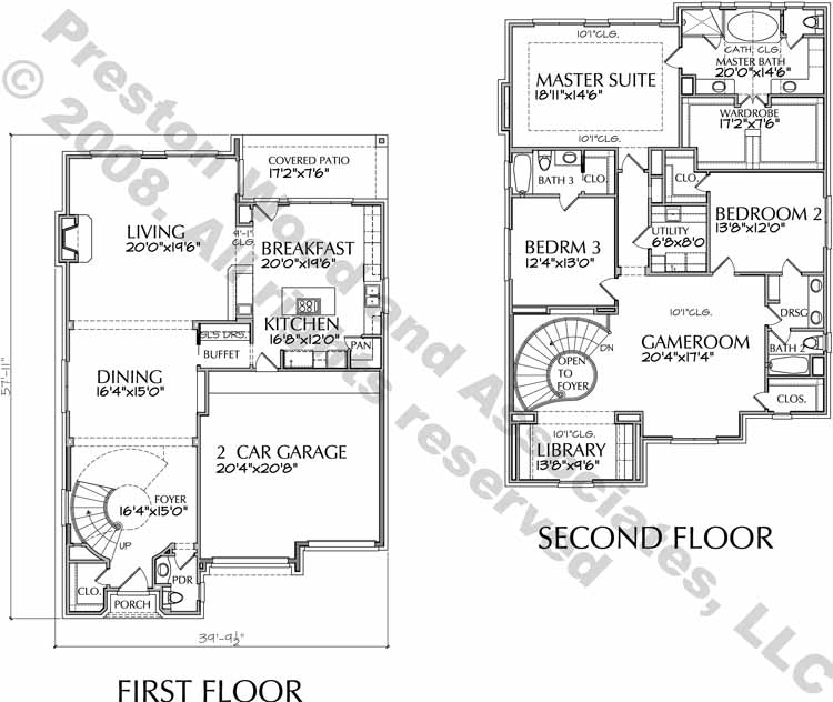 Patio Home Plan aD6163 Hf