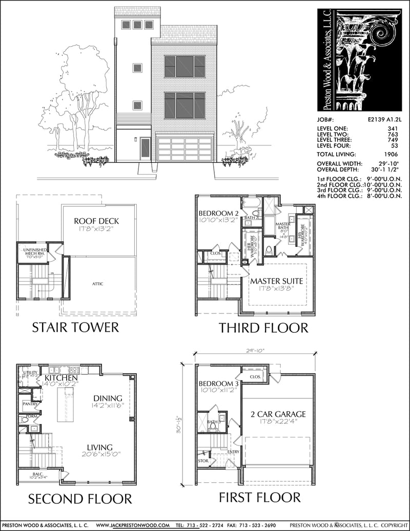 Townhouse Plan E2139 A1.2L