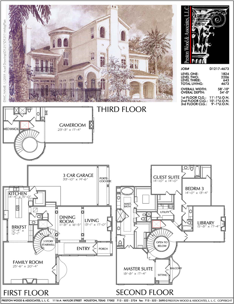 Two Story Home Plan D1217