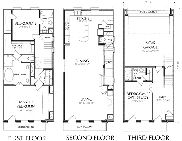 Townhouse Plan E0116 A1.3