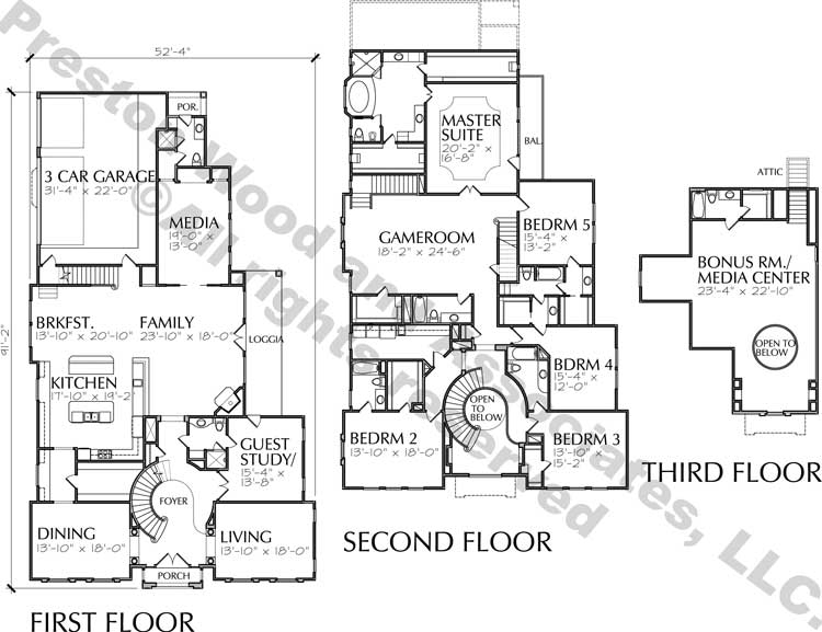 Two Story House Plan D2164