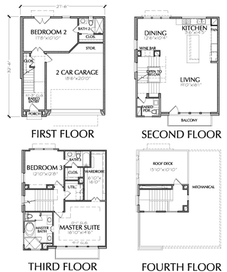 Townhouse Plan E2117 A1.1L