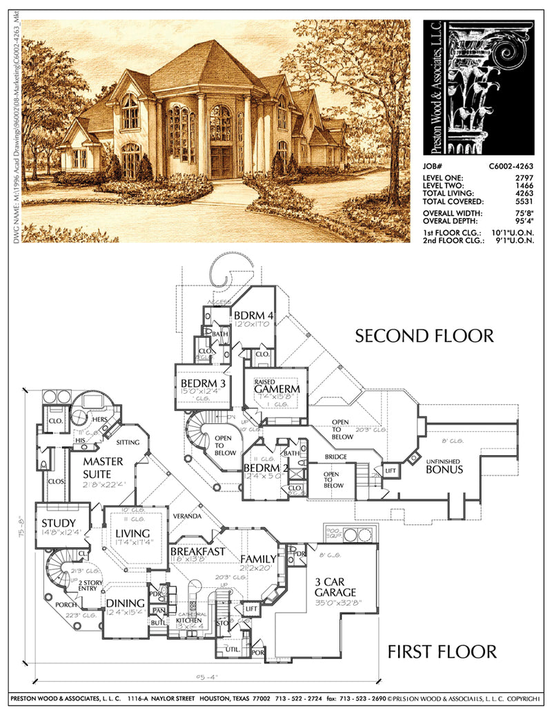 Two Story House Plan C6002