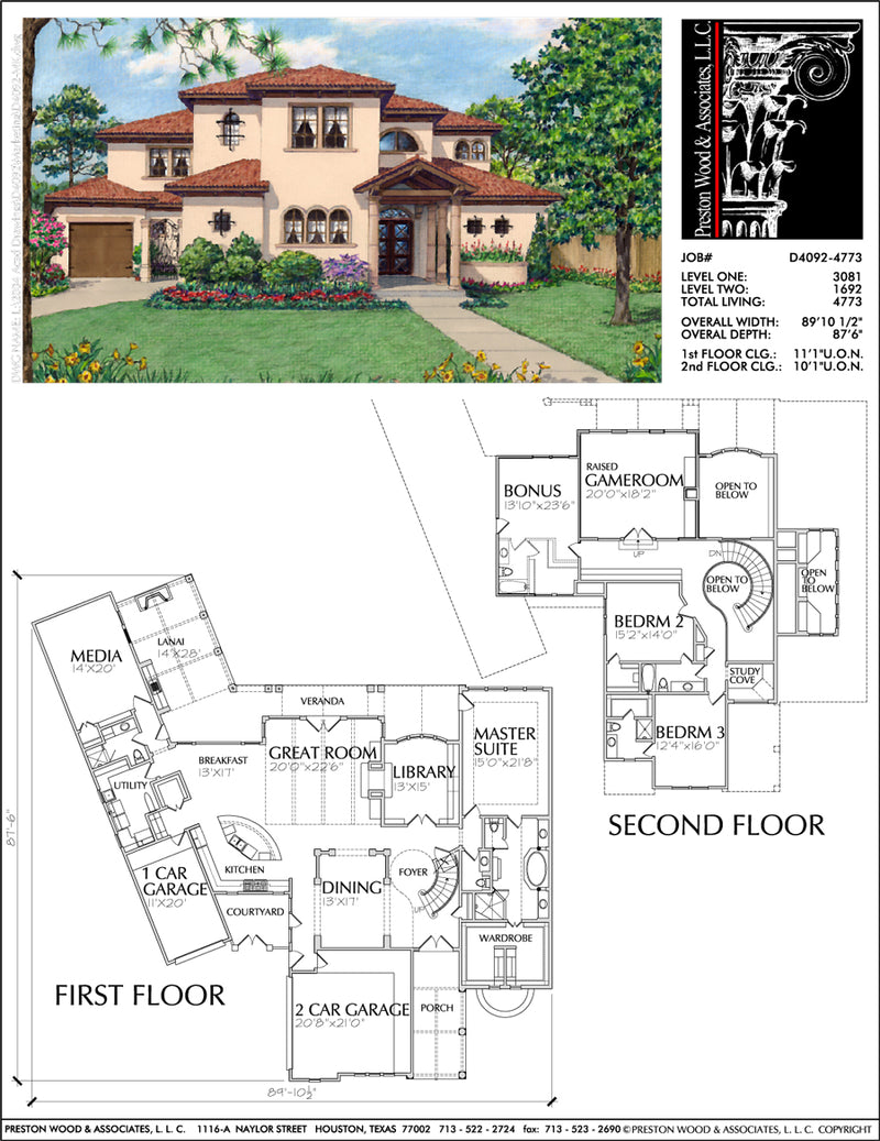 Two Story Home Plan D4092