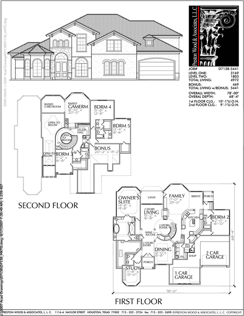 Two Story Home Plan D7138