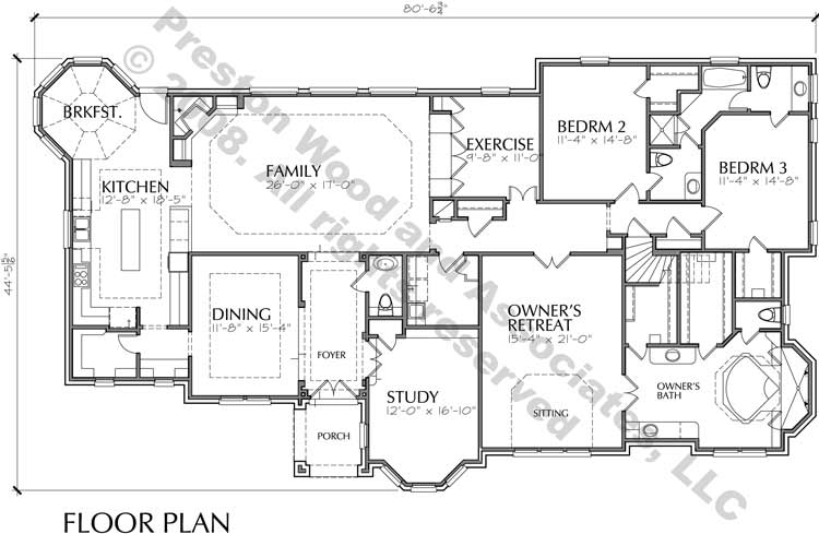 One Story House Plan C7114