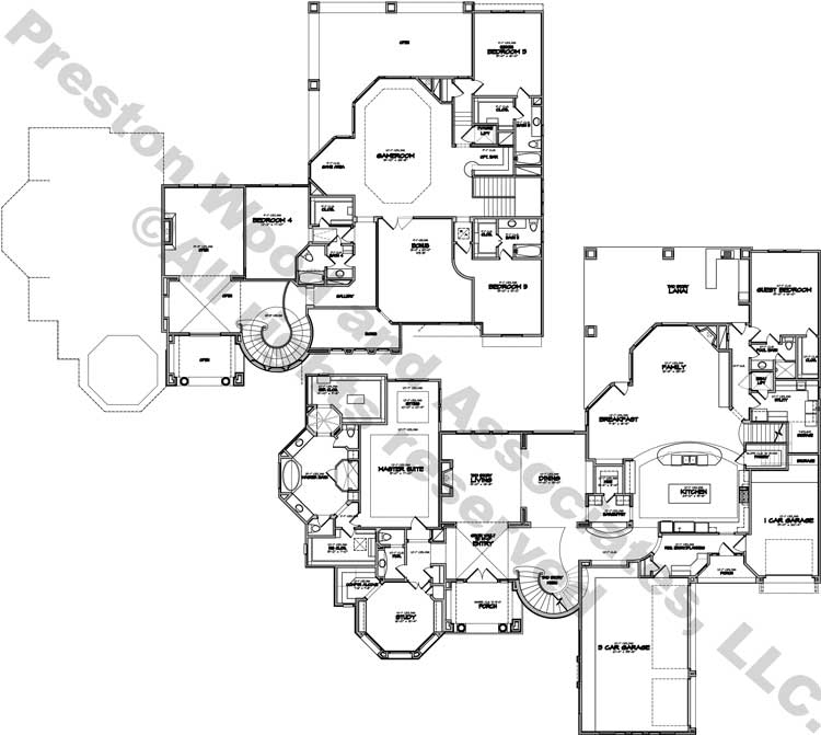 Two Story Home Plan D6232
