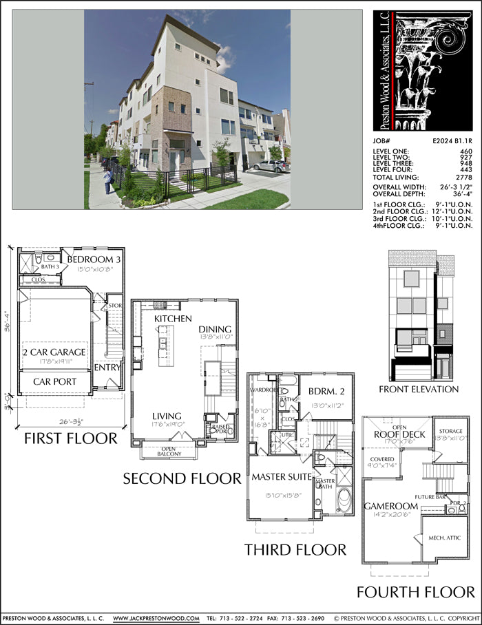 Townhouse Plan E2024 B1.1