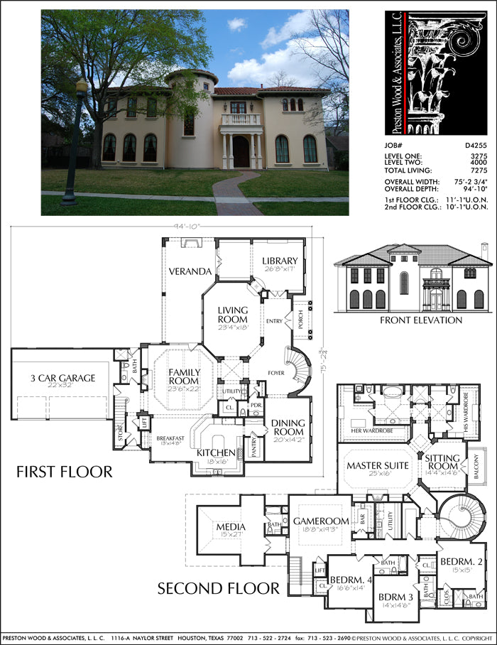 Two Story House Plan D4255